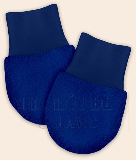 Kojenecké flísové rukavičky modré