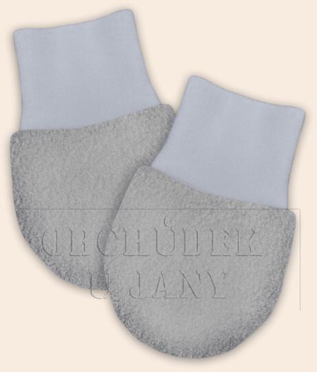 Kojenecké flísové rukavičky šedé