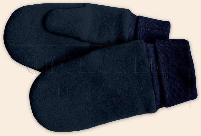 Flísové palcové rukavice - palčáky granát
