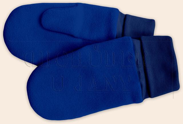 Flísové palcové rukavice - palčáky modré royal