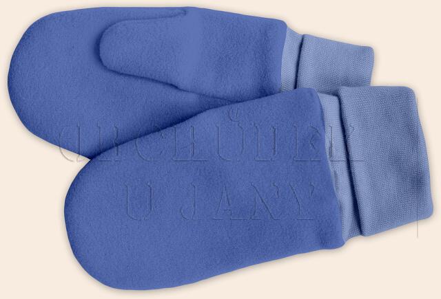 Flísové palcové rukavice - palčáky modré střední
