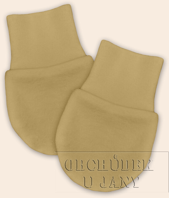 Kojenecké rukavičky bez palečku béžové