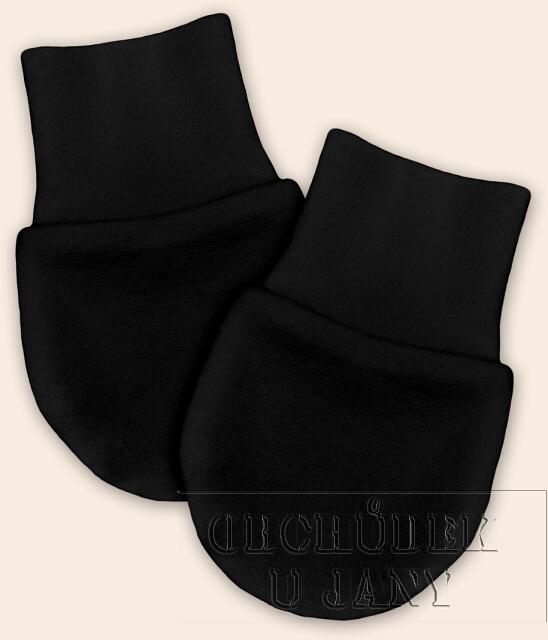 Kojenecké rukavičky bez palečku černé