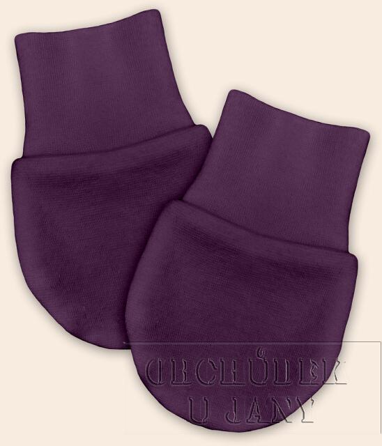 Kojenecké rukavičky bez palečku fialové