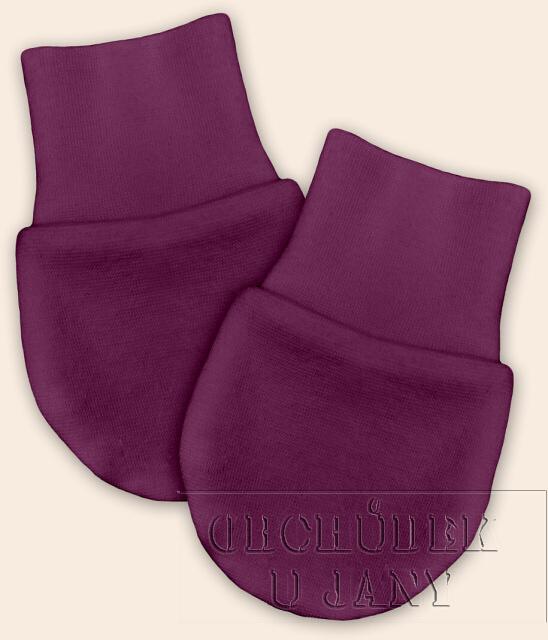 Kojenecké rukavičky bez palečku fialovo-růžové