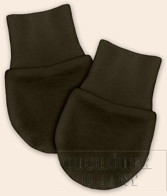 Kojenecké rukavičky bez palečku khaki