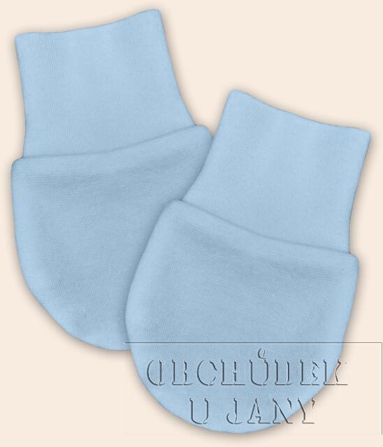 Kojenecké rukavičky bez palečku modré světlé