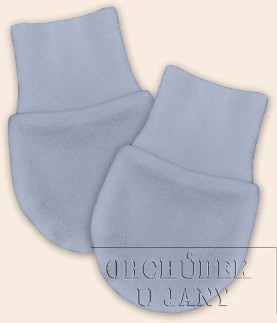 Kojenecké rukavičky bez palečku modré pomněnkové