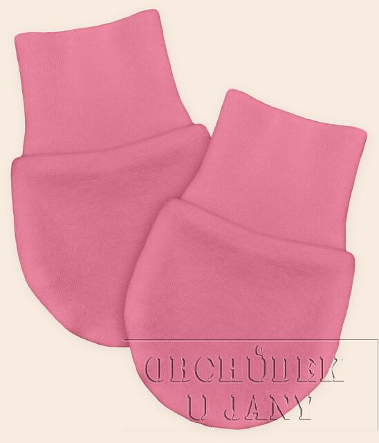 Kojenecké rukavičky bez palečku růžové