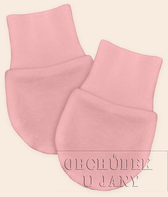 Kojenecké rukavičky bez palečku růžové světlé