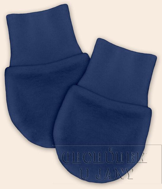 Kojenecké rukavičky bez palečku modré