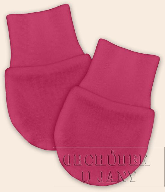 Kojenecké rukavičky bez palečku růžové tmavé