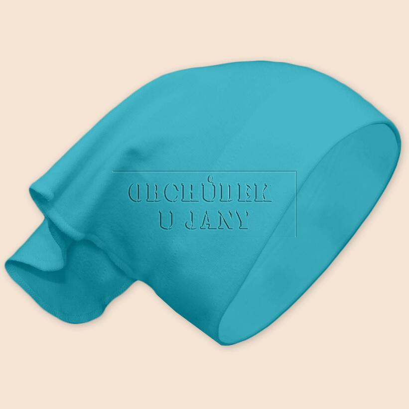 Dívčí šátek na hlavu modrý tyrkysový