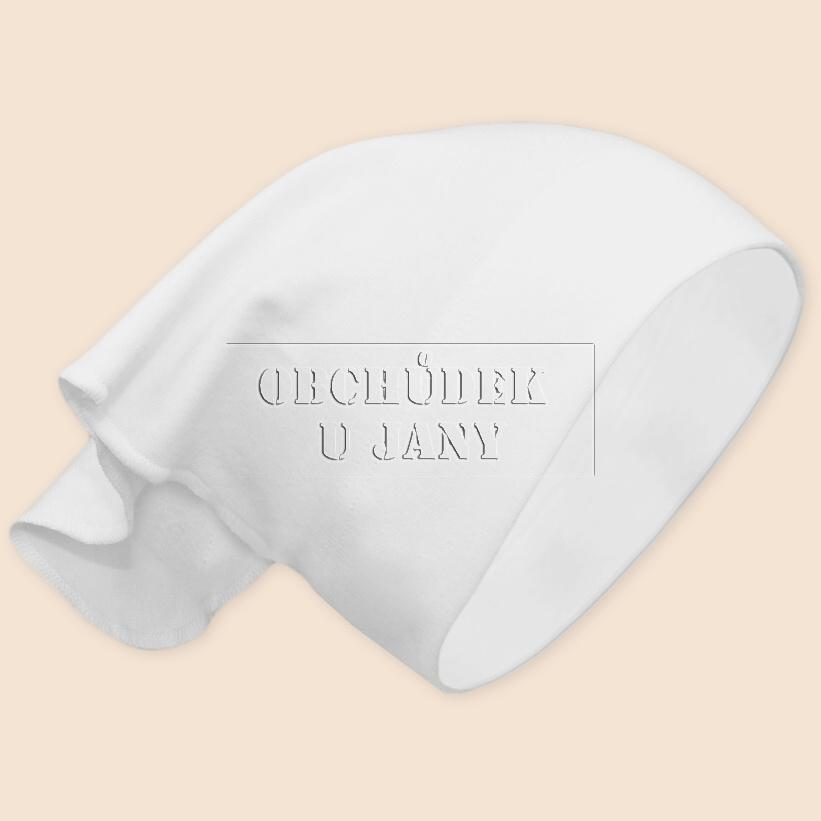 Dívčí šátek na hlavu bílý