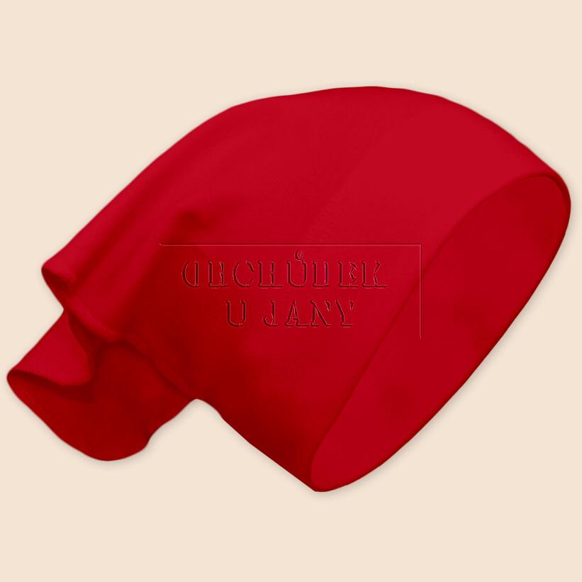 Dívčí šátek na hlavu červený