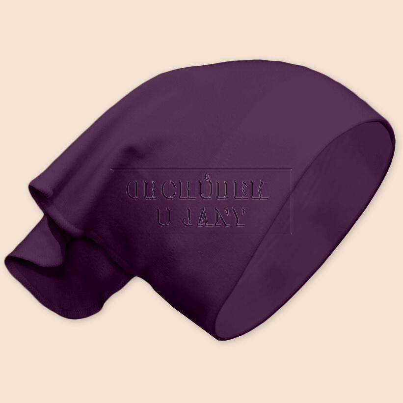 Dívčí šátek na hlavu fialový