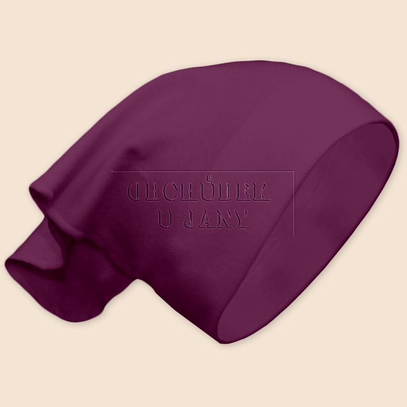 Dívčí šátek na hlavu fialovo-růžový