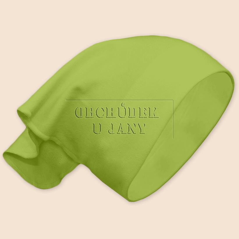 Dívčí šátek na hlavu zelený hráškový