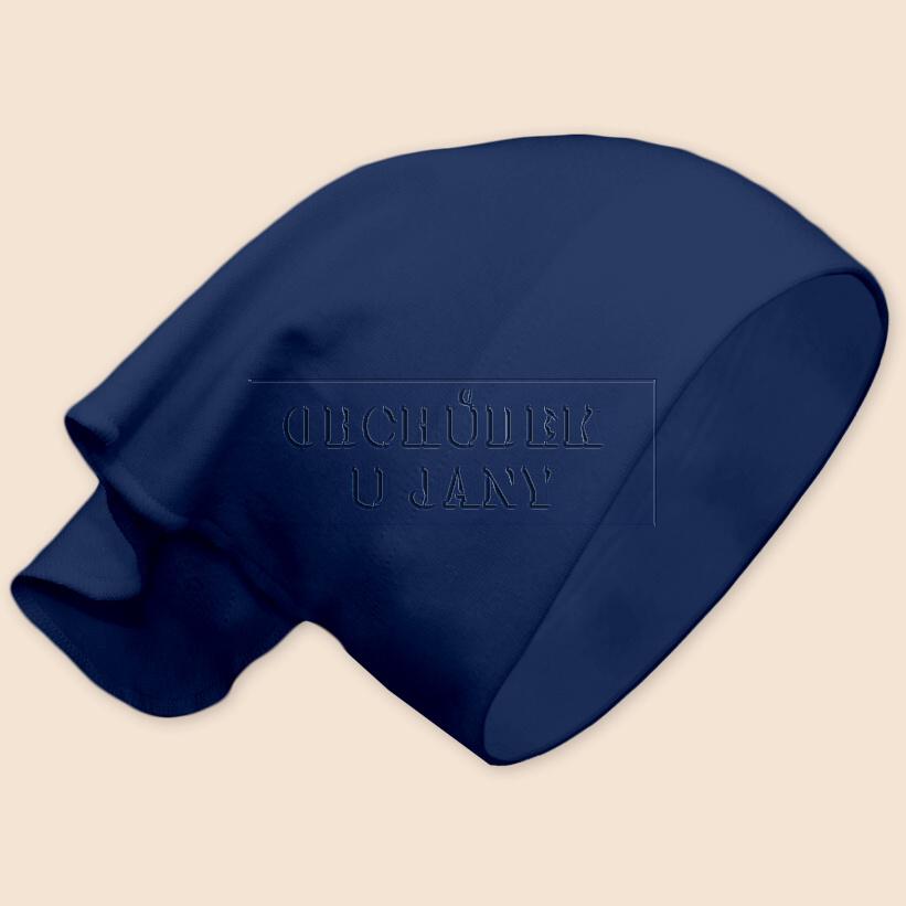 Dívčí šátek na hlavu modrý