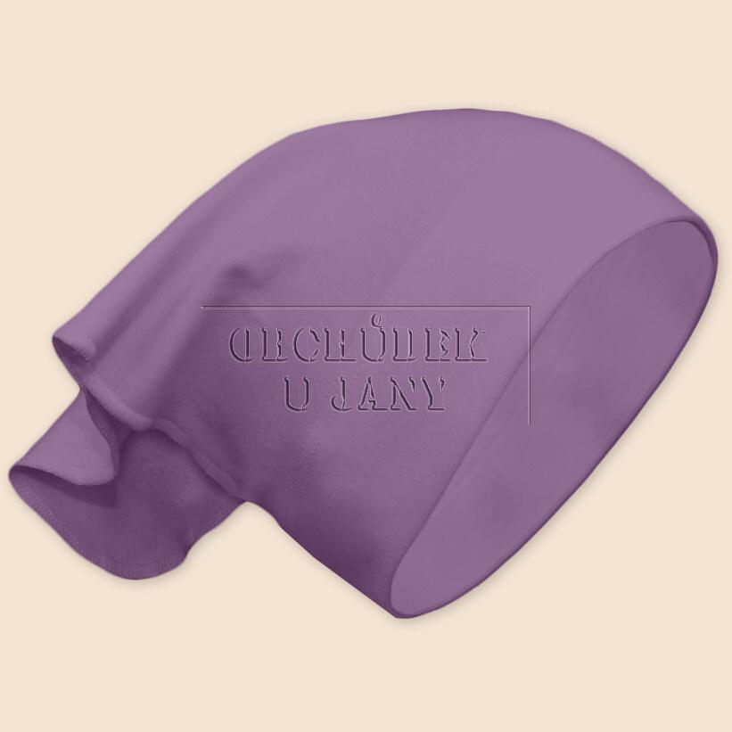Dívčí šátek na hlavu fialový šeříkový
