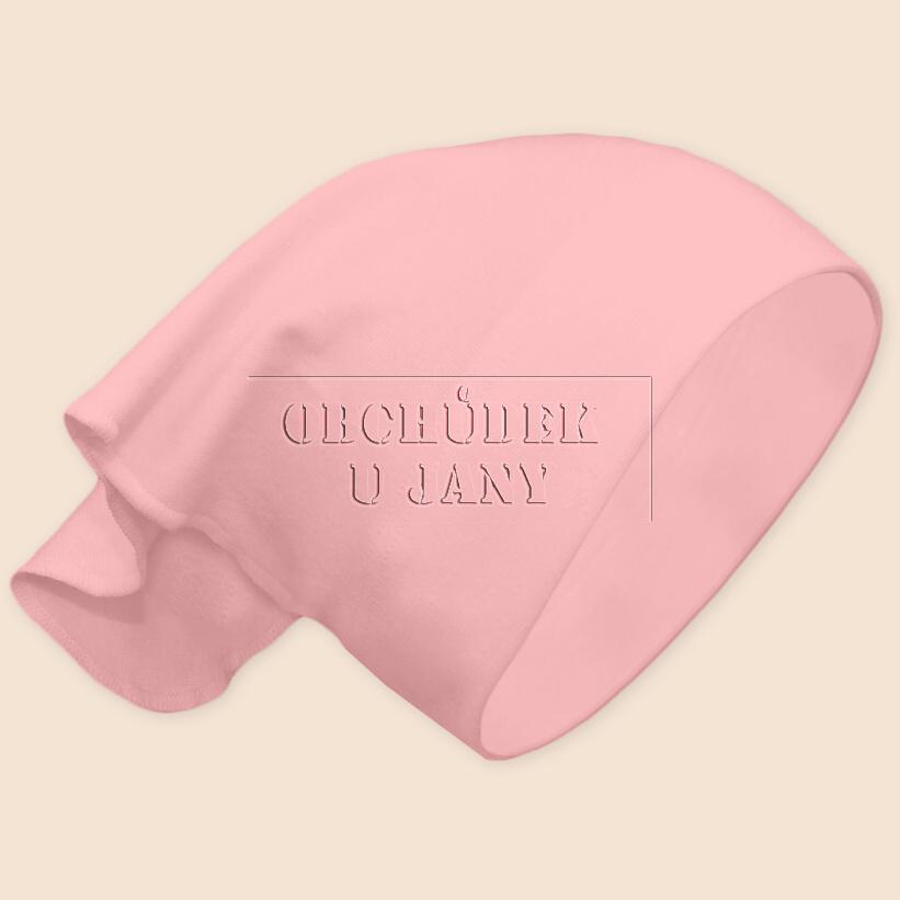 Dívčí šátek na hlavu růžový světlý