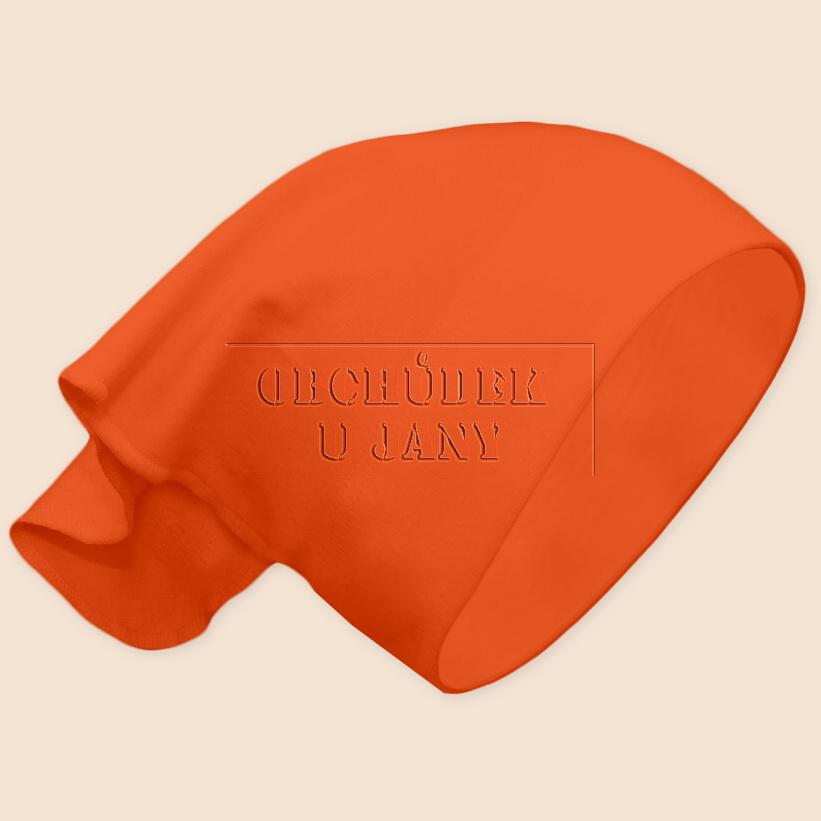 Dívčí šátek na hlavu oranžový tmavý