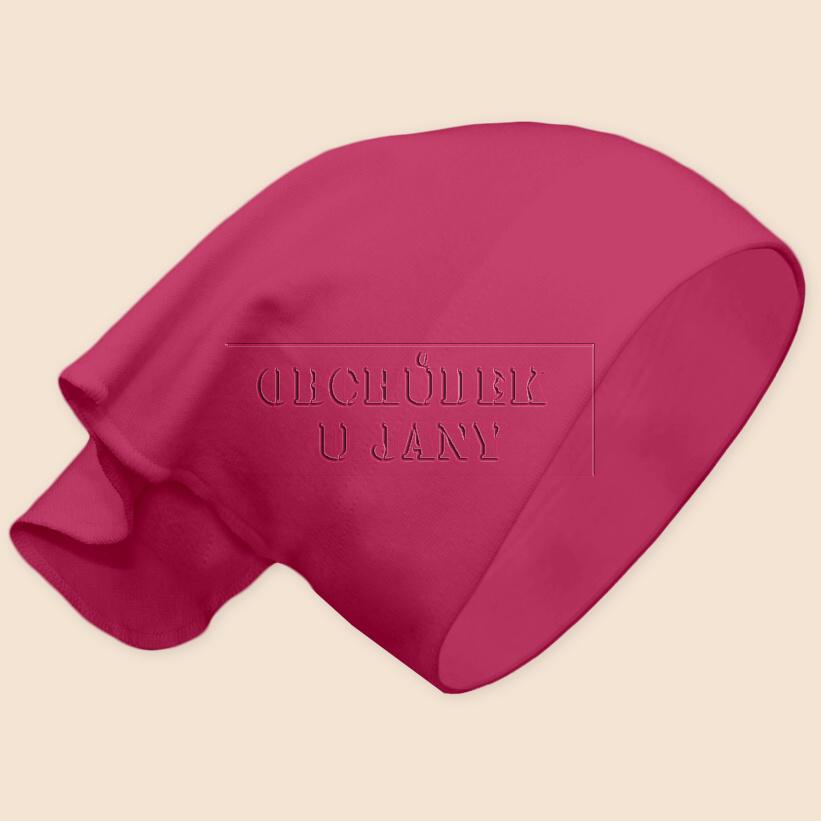 Dívčí šátek na hlavu růžový tmavý
