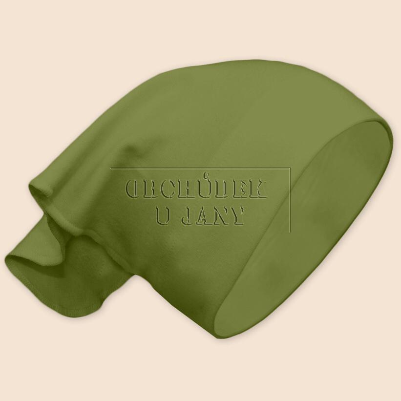 Dívčí šátek na hlavu zelený olivový