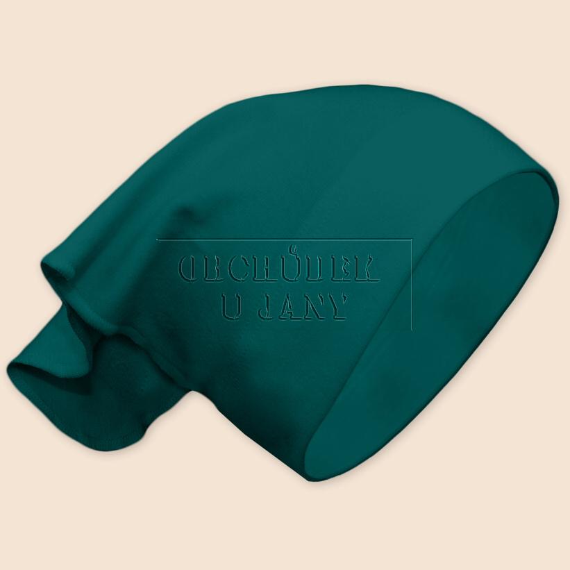 Dívčí šátek na hlavu zelenomodrý