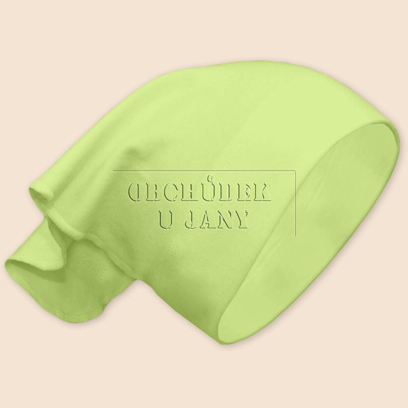 Dívčí šátek na hlavu zelenkavý