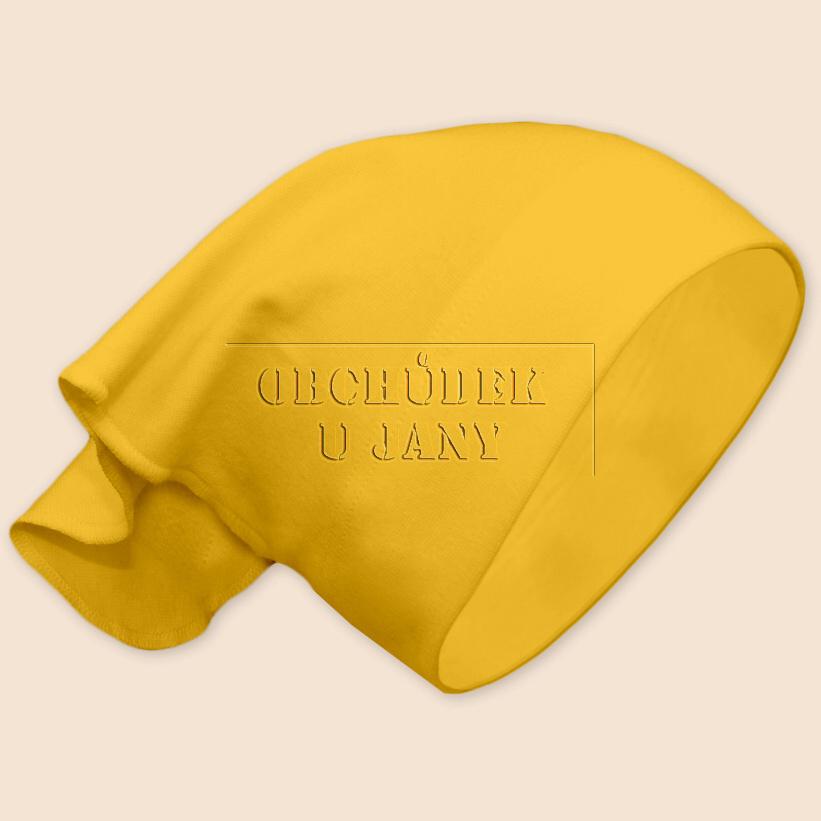 Dívčí šátek na hlavu žlutý