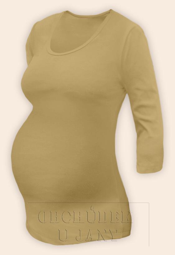 Těhotenské tričko 3/4 rukáv béžové