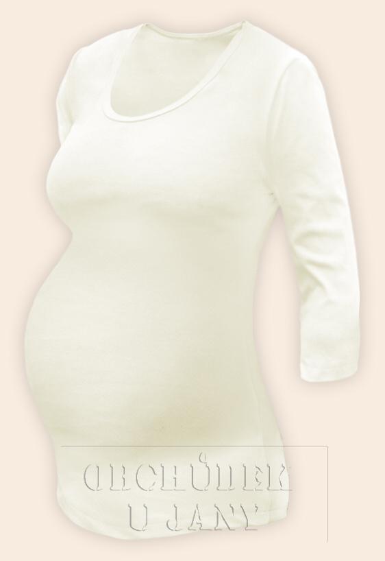 Těhotenské tričko 3/4 rukáv žluté máslové