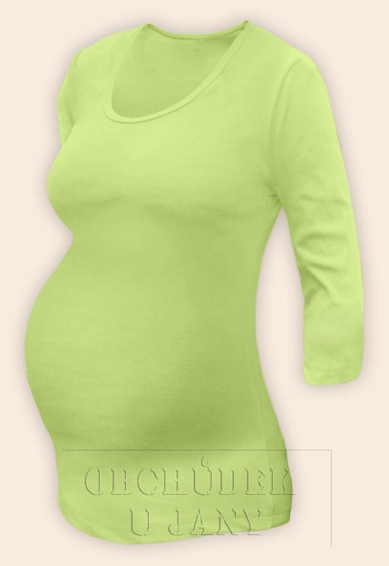 Těhotenské tričko 3/4 rukáv zelenkavé