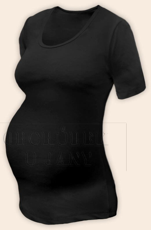 Těhotenské tričko krátký rukáv černé