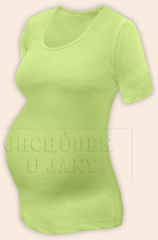 Těhotenské tričko krátký rukáv zelenkavé