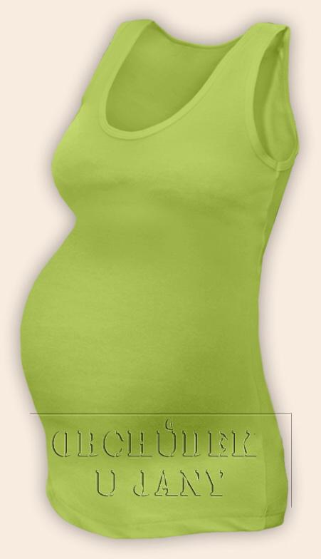Těhotenské tílko zelené hráškové