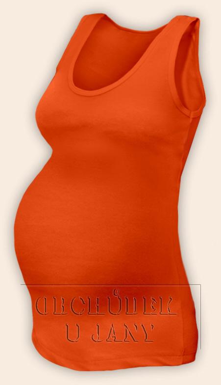 Těhotenské tílko oranžové tmavé