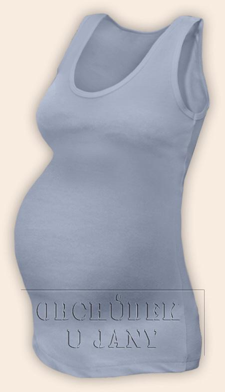 Těhotenské tílko modré pomněnkové