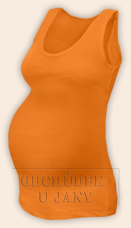 Těhotenské tílko oranžové světlé
