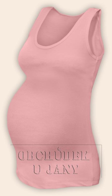 Těhotenské tílko růžové světlé