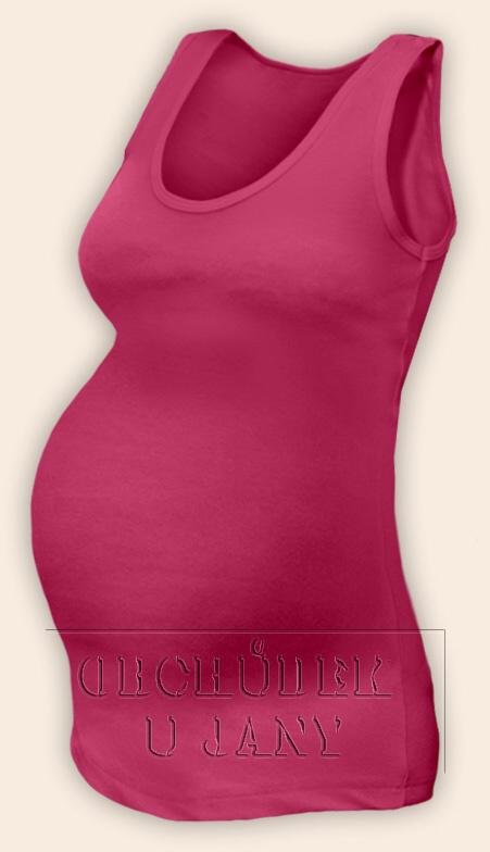 Těhotenské tílko růžové tmavé