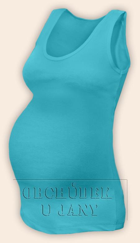 Těhotenské tílko modré tyrkysové