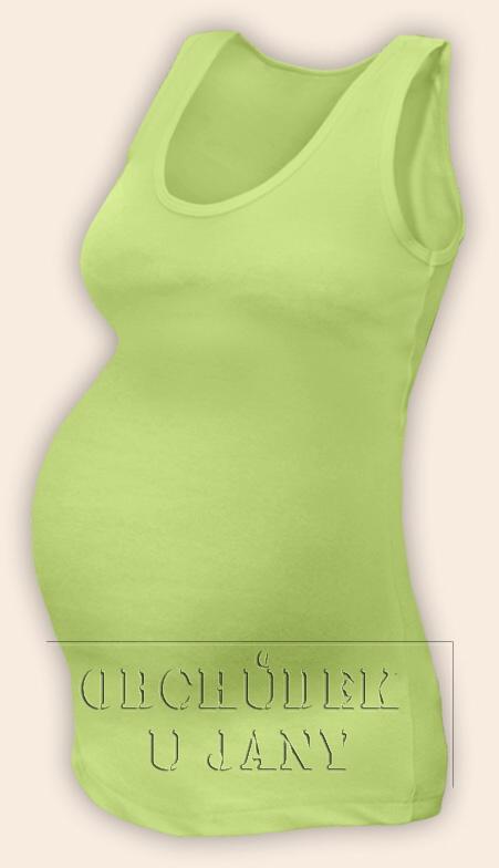 Těhotenské tílko zelenkavé