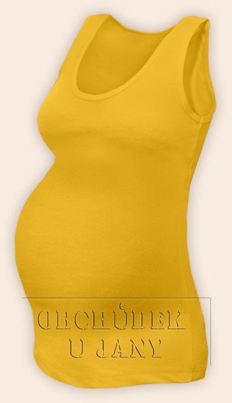 Těhotenské tílko žluté