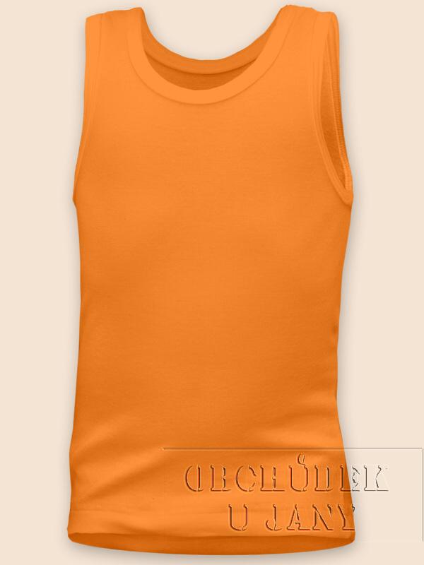 Dětské tílko oranžové světlé