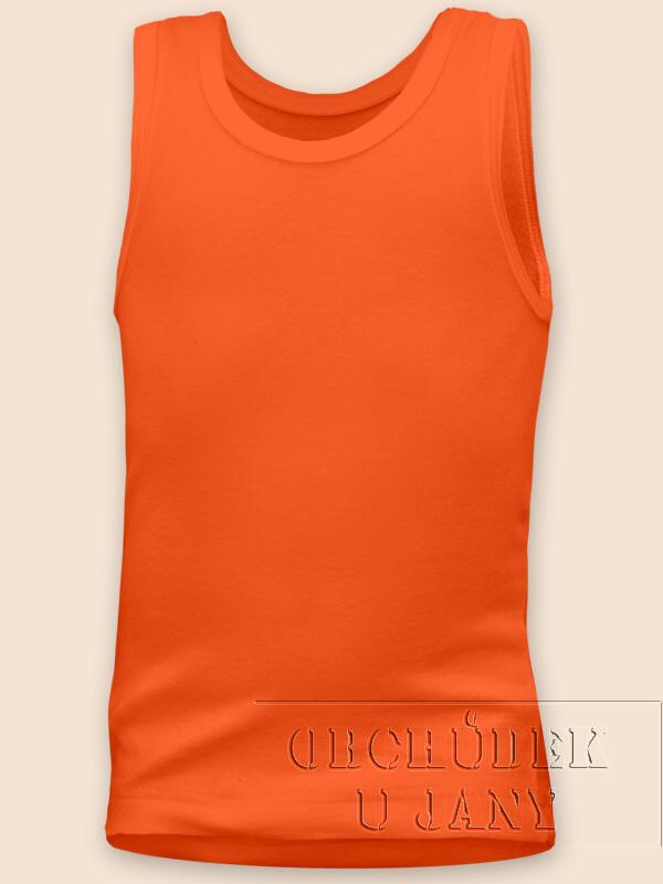 Dětské tílko oranžové tmavé
