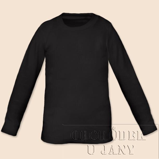 Dětské tričko dlouhý rukáv černé