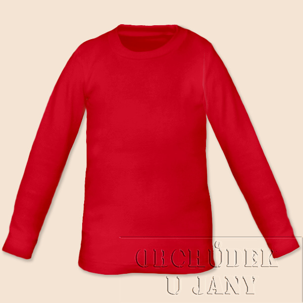Dětské tričko dlouhý rukáv červené