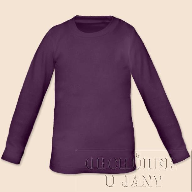 Dětské tričko dlouhý rukáv fialové